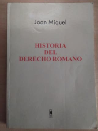 Historia del Derecho Romano.