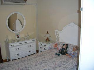 Dormitorio madera lacado blanco