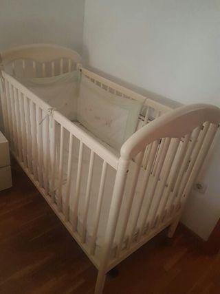 Cuna bebe+colchon
