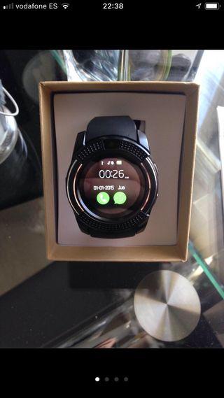 Smartwatch bluetooth negro redondo