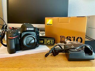 Camara de fotos Réflex Nikon D610 como NUEVA