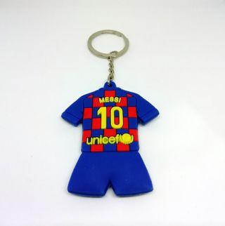 Llavero de Messi, con la camiseta del FC Barcelona