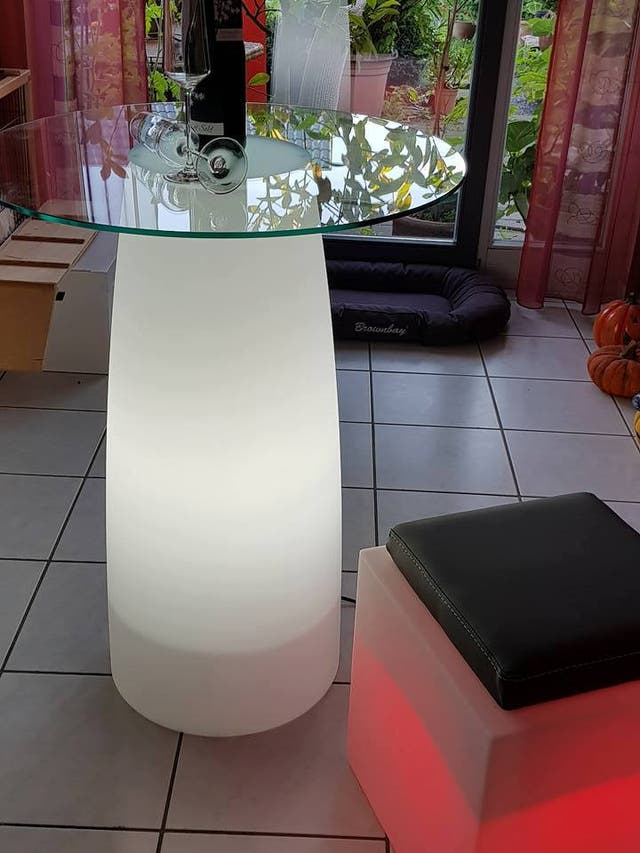 Mesa led taburetes led
