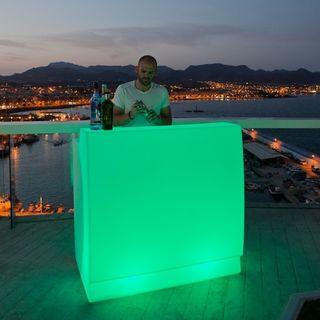 Barra bar led luminosa rgb polietilene