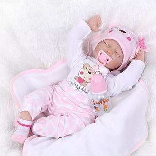 Muñeca realista 40 o 50 cm ojos cerrados
