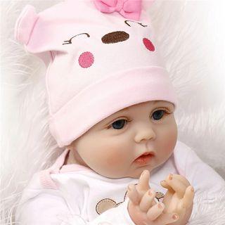 Muñeca realista 40 o 50 cm ojos abiertos