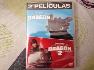 DVD Como Entrenar a tu Dragón 1 y 2 Nuevo