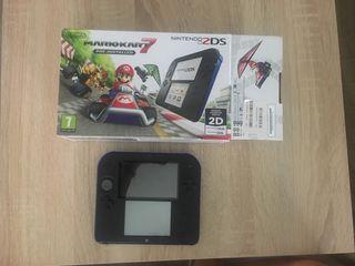 Nintendo 2DS blue + Mario Kart