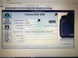 Camara de fotos Reflex Canon 40D