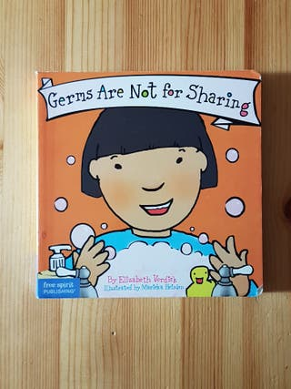 Libro en inglés Germs are not for sharing