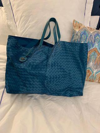 Shopping bag Bottega Veneta esmeralda