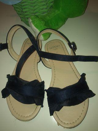 sandalia azul marino