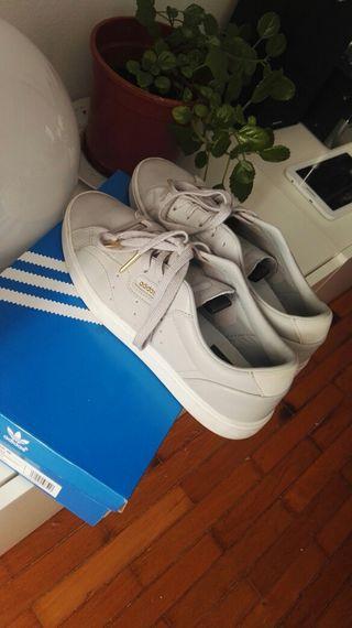 Detalles de Zapatos Adidas Stan Smith Zapatilla Deportiva Negras 38 23 usadas una vez