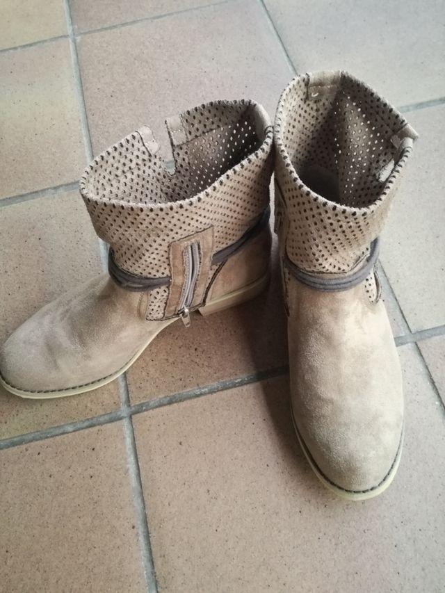 botas antílope color beige talla 38