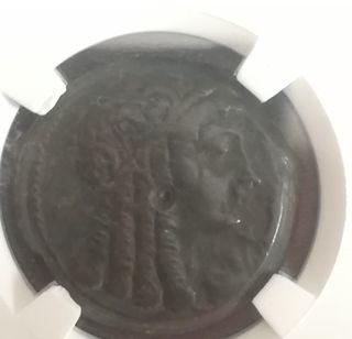 moneda antiguo Egipto Cleopatra I