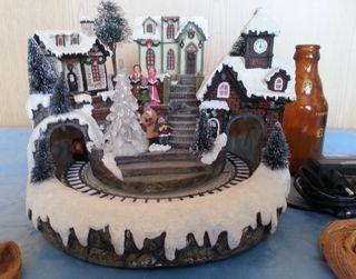 Carrusel de Navidad musical y con luz led. Diorama