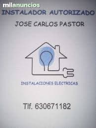 INSTALADOR ELECTRICISTA AUTORIZADO.