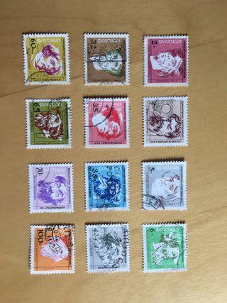 sellos Portugal - serie Navegadores