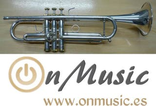 Trompeta Sib Stomvi Forte plateada en buen estado