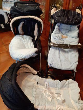 Carrito silla y capazo de bebe