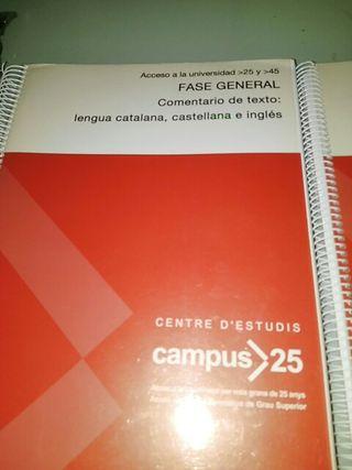 Libros varios para acceso a la Universidad