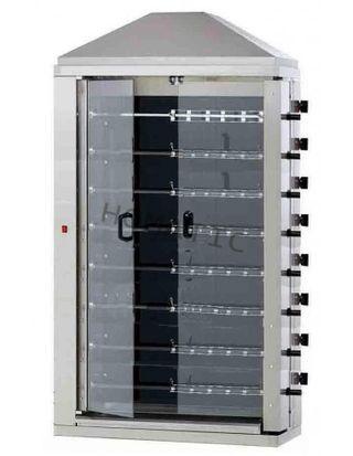 Asador compacto eléctrico de 8 espadas 48 pollos c
