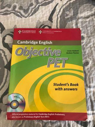Libro de inglés Objective PET
