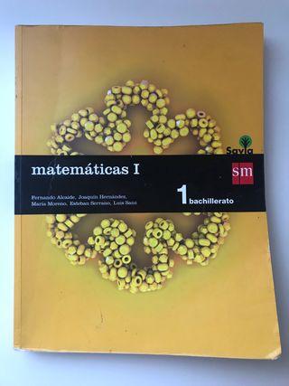 Libro Matemáticas I 1 bachillerato
