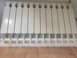 Radiador aluminio 12 elementos. Altura 35 cm
