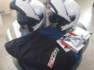 Cascos moto con intercomunicador bluetooth