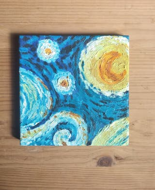 Van Gogh. Noche estrellada. Pintura Óleo