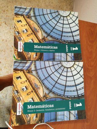 Libros 1 ESO El Pinar Matemáticas bloque 1 y 2