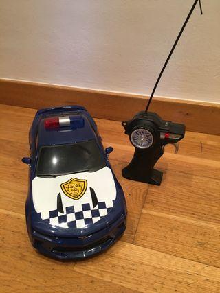 Coche y moto policía teledirigido