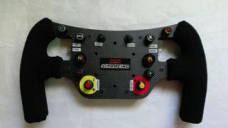 Volante sim racing F1 fibra de carbono