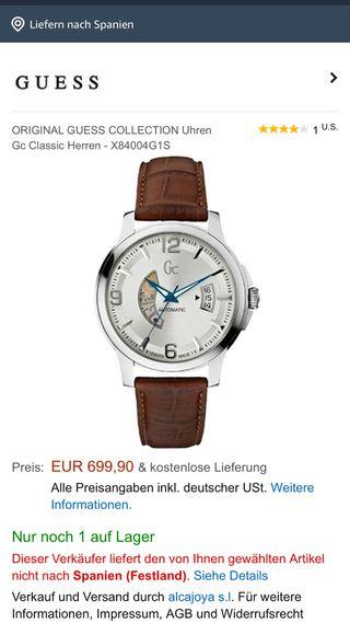 Reloj GuessCollection