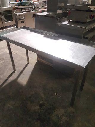 banco mesa de acero inoxidable soporte