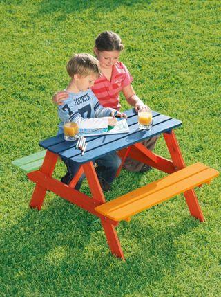 Mesa mader infanti exterior e interior