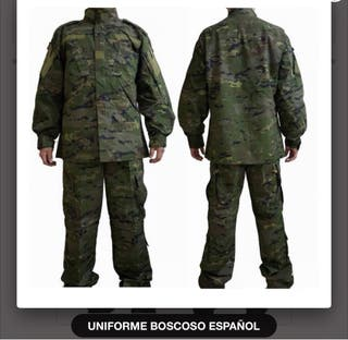 Pantalon uniforme pixelado boscoso español L