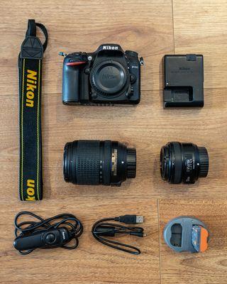 Camera Nikon D7200 + objetivo 18-140mm + 50mm 1.8