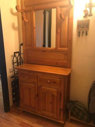 Mueble recibidor rústico pino URGE vender