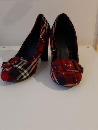 Zapatos Zara cuadro escocés