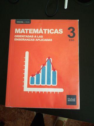 Libro de matematicas aplicadas 3ESO, Ed. Oxford