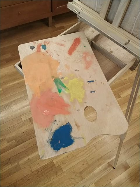 Caballete pinturas