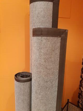 3 alfombras bambú.