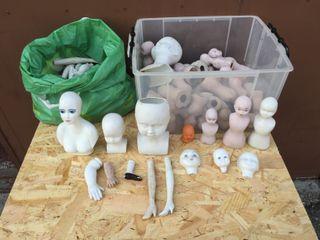 Colección partes muñecas porcelana vintage
