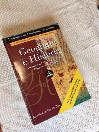 Libros temario oposición secundaria Gª e Hª