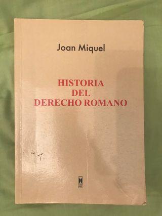 Historia del derecho romano, Joan Miquel