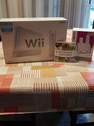 Consola Wii + Wii Sports + Cargador Mandos