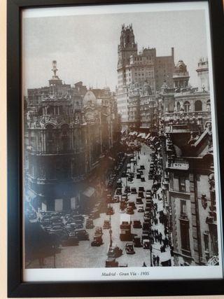 Fotografías enmarcadas Madrid antiguo