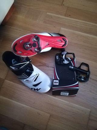 botas ciclismo talla 37 +calas